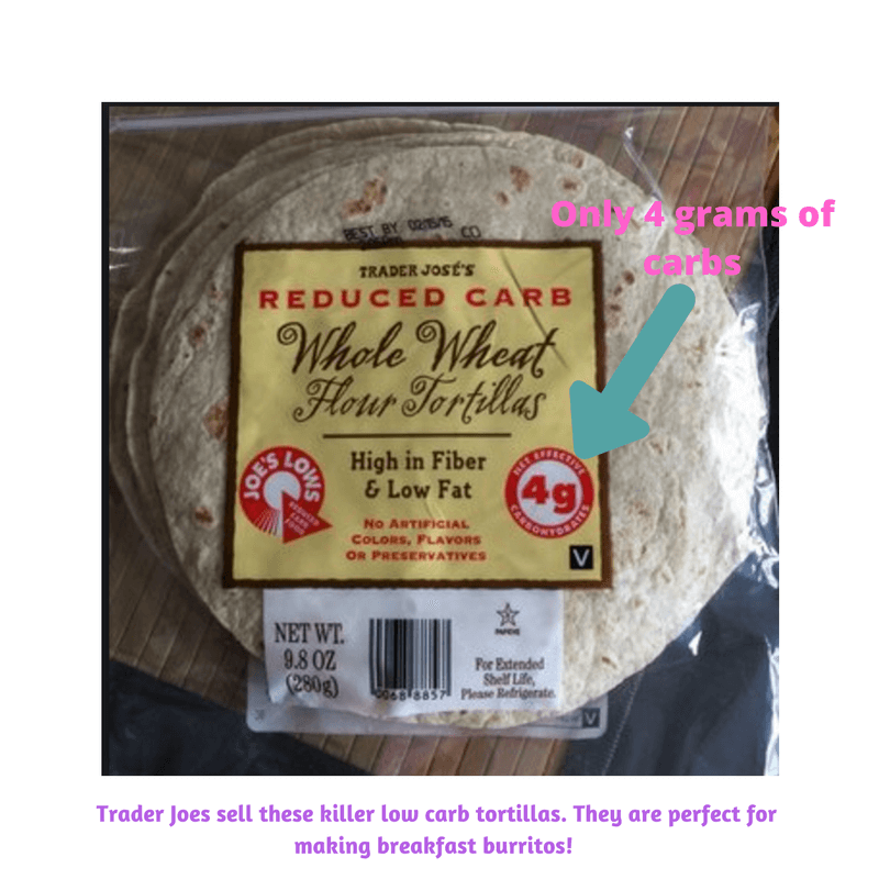 trader joes low carbohydrates tortillas